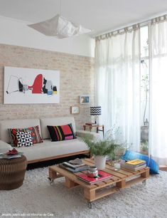 Nice Decoracao De Casas Interiores Simples that you must know, Youre in good company if you?re looking for Decoracao De Casas Interiores Simples Decoration Design, Decoration Table, Home Living Room, Living Room Decor, Style Deco, Pallet Furniture, Skid Furniture, Furniture Plans, Garden Furniture