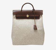 Hermès Brown Canvas Backpack | VAUNTE