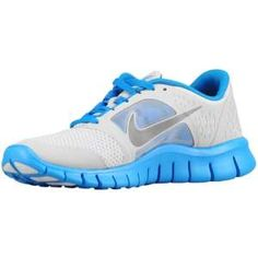 Nike Free Run 3 - Girls' Grade School - Running - Shoes - Pure Platinum/Light Photo Blue/Reflect Silver