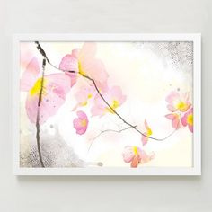 Created by the Gleaux Art and Design studio, this Cherry Blossoms print comes to us from our collaboration with Minted, a community of independent designers and artists.