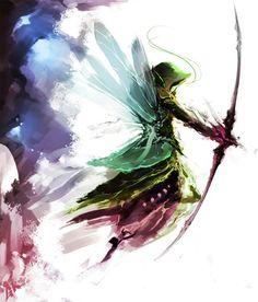 Faerie archer watercolour