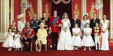 William and Kates Families..well except for 'horse face'!!!! I am going to superinpose Princess Diana in...that ugly wench has no right being there!!!!!
