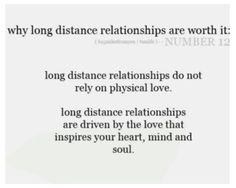 I always try to tell people this when they say an ldr isn't a 'real relationship'. Oh, no, I'm not sitting there focused on someone's body, it must not be 'real'. Come now, people. Falling in love with someone's heart, soul, and mind is far faaar more important.