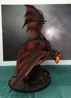 Narthrax - Show Off - Reaper Message Board Dragon Miniatures, Reaper Miniatures, Fantasy Miniatures, Toy Art, Fantasy Dragon, Fantasy Art, Fantasy Beasts, Dungeons And Dragons Miniatures, Fantasy Figures