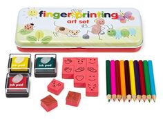 Serious fun with this simple yet innovative fingerprinting art set! @· SMALLable ·