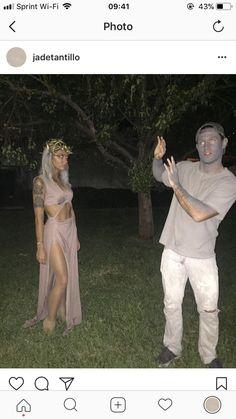 Last year's Halloween costume! Medusa & stone man. Wonder what we'll be this year...
