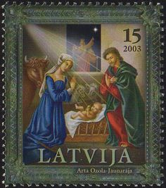 latvian postage stamp
