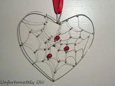 Unfortunately Oh!: Tutorial: 'Heartcatcher' - dream-catcher hanging heart