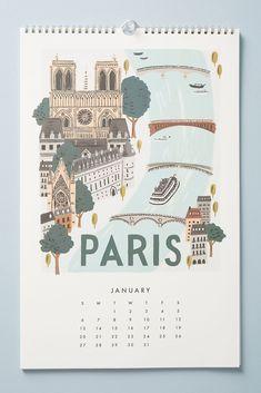 World travel 2019 calendar rifle paper co Calendar Layout, Art Calendar, Calendar 2020, Calendar Ideas, Magazine Design, Graphic Design Magazine, Rock Design, Kalender Design, Cool Calendars