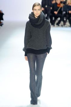Now that's a cozy sweater! Akris Fall 2013 RTW Collection