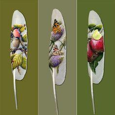 pinturas en plumas de aves - Buscar con Google