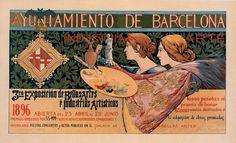 1896 Art Nouveau Poster ~ LÁMINAS ANTIGUAS 3-Ideas y Trabajos terminados (pág. 803)   Aprender manualidades es facilisimo.com