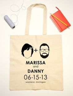 custom tote bags for bridal party