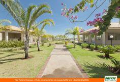 Área de lazer do The Palms Houses e Club. Condomínio fechado de casas de 3 e 4 quartos com suíte em Uberlândia/MG, no Jardim Karaíba.