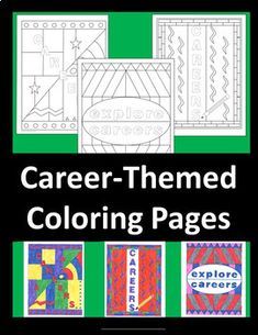Students of all ages can relax and rewind with 3 career-themed, stylized coloring pages. Fun extra credit, career day, fast-finisher, or homeroom activity. Use as wall decorations or folder/portfolio covers when completed.