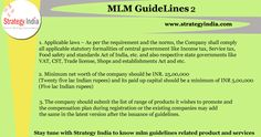 Here we share more #mlm #guidelines related direct selling company registration. For more information visit www.strategyindia.com