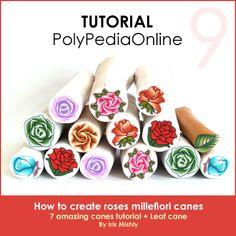 PolyPediaOnline Vol. 9 - Roses Millefiori Canes Tutorial