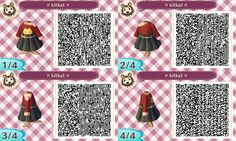 "vegetablecrossing: "" a cute cat jumper with a simple black hightop skirt! Feel free to share these codes, just please credit back to me. As always feel free to request different colour combinations for this design! Hope you like it! """