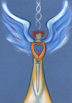 Eleander…een intuïtieve engelentekening. Wil jij er ook eentje? Ga naar www.angelsco.nl  Eleander a personalized angel drawing…want your own? Please visit www.angelsco.nl