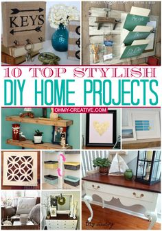 10 Top Stylish DIY Home Projects   OHMY-CREATIVE.COM #DIYHome #Decorating