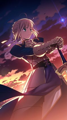 Saber Fate Zero and Fate/Stay Night Wallpaper Animes, Anime Wallpaper Live, Animes Wallpapers, Live Wallpapers, Re Zero Wallpaper, Cool Anime Girl, Kawaii Anime Girl, Anime Art Girl, Anime Girls