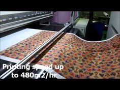 Industrial High Speed Textile Digital Printing Machine - DPMK - YouTube