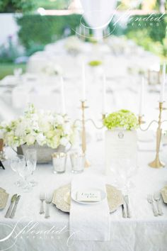 White and green garden wedding by Splendid Affairs Photography by Rensche Mari Photography