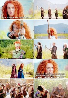 """""""You saw what I can do with an arrow!"""" - Queen Merida #OnceUponATime"""