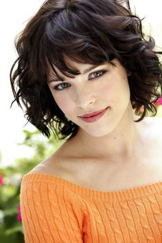above the shoulder haircuts with side bangs for women with curly hair - Google Search
