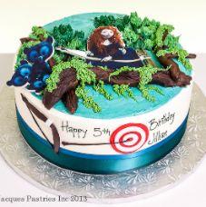 Birthday brave cake