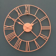 Rose Gold Face Metal Skeleton Wall Clock Roman Numerals Big Large for sale online Wall Clock Copper, Skeleton Wall Clock, Metal Clock, Clock Wall, Wall Art, Copper And Grey, Copper Color, Copper Rose, Gold Colour