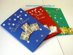 Stránky pro tvořivé - malé i velké - Fotoalbum - Fotografie z kurzů - Vánoční dílna 13.12.14 - P1370029 Dyi, Diy And Crafts, Christmas Cards, Gift Wrapping, Halloween, Children, Tableware, Winter, Gifts