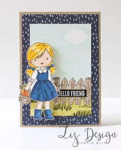 LizDesign: Stampin with Liz Design: Garden Girl Card!