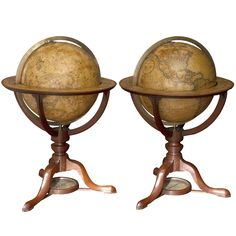 Pair of George III 12 inch Terrestrial and Celestial Table Globes, early 19th century