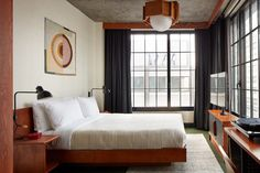 Ace Hotel Brooklyn showcases the borough's artistic talent Le Corbusier, Architectural Digest, Ace Hotel New York, Brooklyn, Open Hotel, Roman And Williams, Public Hotel, Hotel Amenities, Minimal Home
