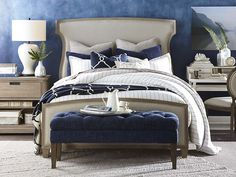 Bassett Furniture has a wide variety of hand-made living room, bedroom, and dining room furniture that works with all styles. Or, design your own with HGTV Design Center Furniture Upholstery, Bedroom Furniture, Home Furniture, Bedroom Decor, Master Bedroom, Bedroom Ideas, Decorating Bedrooms, Bed Ideas, Bedroom Designs