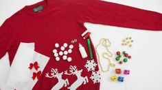 Make your own Ugly Christmas Sweater with this custom kit #uglysweater #holidaystyle