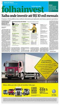 Saiba onde investir até 10mil mensais -- Folha de S.Paulo - Edição de 09/09/2013