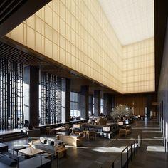 Aman Hotel lobby by Kerry Hill Architects. Image courtesy Aman Tokyo www.amanresorts.com/amantokyo _R9A9924