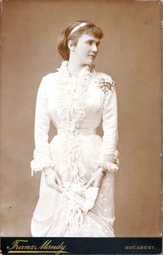 Queen Elizabeth of Romania, nee Pss of Wied. 1880s.