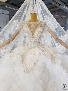 OSTTY - Lace Backless High Waist Cloud Long Trailing Wedding Dress OS2228 $1,299.99 Lace Wedding, Wedding Dresses, Slim Waist, High Waist, Beaded Curtains, Beaded Lace, Backless, One Piece, Clouds