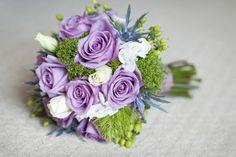 Purple Rose and White Spray Roses in this Spring Bouquet- Kiwi Fleur #wedding #southernwedding #savannahgawedding