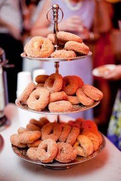 PLAYFUL--DONUT BAR HAVE FUN TREATS    mmmm...wedding-dessert-cider-donuts-barn-wedding
