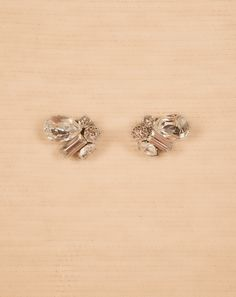 Lovely, asymmetric cluster posts. By Haute Bride, E883. Stud measures1/2″L, 1/2″ W Made to Order in 6-8 weeks Made with ❤in the USA