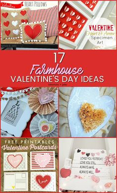 17 Farmhouse Valentine's Day Ideas – easy ways to decorate 17 Farmhouse Valentine's Day ideas. Fast and beautiful ways to bring the spirit of Valentine's Day into your home. Valentines Day Dinner, Valentines Day Activities, Valentines Day Decorations, Valentine Day Crafts, Holiday Crafts, Valentine Ideas, Holiday Ideas, Valentine Party, Homemade Valentines