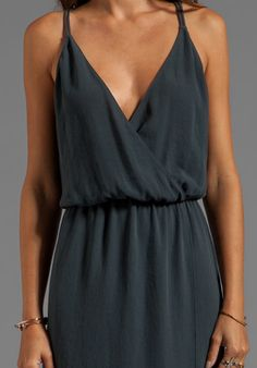 RORY BECA Minna Double Strap Gown in Cement - New
