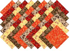 "FLIP FLOP #2 COLLECTION 40 Precut 5"" QUILTING FABRIC SQUARES"