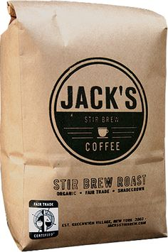 Jacks Coffee Bag #coffee #pouches for more information visit us at www.coffeebags.co.za