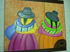 Resultado de imagen para dibujos coyas para pintar Flower Pots, Flowers, Arte Popular, Folk Art, Decoupage, Cactus, Ecuador, Valentino, Paintings