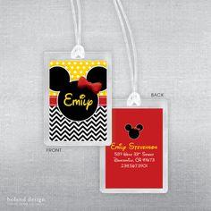Disney luggage tag. Disney bag tag. by BolandDesignPaperCo on Etsy, $6.00